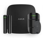 AJAX StarterKit Plus Black (Стартовый комплект (интеллектуальная централь Хаб Плюс, датчик движения, датчик открытия, бр .... (13539.35.BL2)