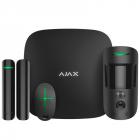 AJAX StarterKit Cam Black (Стартовый комплект (Интеллектуальная централь Хаб 2, Датчик движения с фотоверификацией, Датч .... (16582.42.BL1)