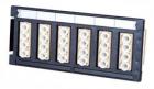 Адаптерная планка Quick-Fit, 6xLC Quad, MM, Втулка: композит, Цвет: бежевый Quick-Fit module 6xLC Quad (24 FO), MM, Beig .... (1671202-2)