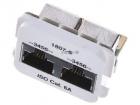Двойная адаптерная вставка ACO Plus Кат. 6а, Тип вставки: 2xRJ-45 (2хISDN), Цвет: белый (RAL 9010) ACO Category 6a Inser .... (1711807-5)