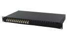 """19`` оптическая панель 12 дуплексных LC адаптеров SM 19"""" Panel Drawer Style, Loaded 12 LC DPX, SM (2-1671000-4)"""
