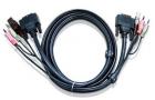 Кабель ATEN CABLE DVI/ USBA/ SP.MC-DVI/ USB B; 1.8M*2L-7D02U (2L-7D02U) (2L-7D02U)