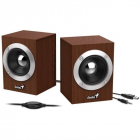 Акустическая система Genius Speaker System SP-HF280, 2.0, 6W(RMS), USB, WOOD (31730028400)