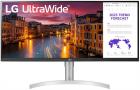 Монитор LCD 34'' [21:9] 2560х1080(UW-UXGA) IPS, nonGLARE, 400cd/ m2, H178°/ V178°, 1000:1, 16.7M, 5ms, 2xHDMI, DP, Heigh .... (34WN650-W)
