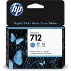 Картридж Cartridge HP 712 для DJ T230/ T630/ T650/ Studio, голубой, 29 мл (3ED67A)