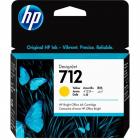 Картридж Cartridge HP 712 для DJ T230/ T630/ T650/ Studio, желтый, 29 мл (3ED69A)