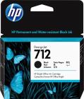 Картридж Cartridge HP 712 для DJ T230/ T630/ T650/ Studio, черный, 80 мл (3ED71A)