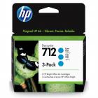 Картридж Cartridge HP 712 для DJ T230/ T630/ T650/ Studio, голубые, тройная упаковка 3ED67A (3*29мл) (3ED77A)