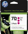 Картридж Cartridge HP 712 для DJ T230/ T630/ T650/ Studio, пурпурные, тройная упаковка 3ED68A (3*29мл) (3ED78A)