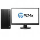 Персональный компьютер + монитор HP Bundle DT PRO A MT AMD Ryzen3 Pro, 4GB / 500GB HDD / DOS / DVD-WR / 1yw / kbd / USBm .... (4CZ15EA#ACB)
