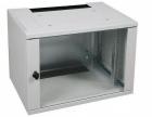 050100191 ConAct настенный шкаф 600х600мм, 21U стеклянная дверь, 1 пара направляющих (050100191)