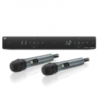 Sennheiser XSW 1-825 DUAL-A Вокальная РЧ-система, 548-572 МГц, 10 каналов, настольный двухканальный приёмник, два ручных .... (508263)