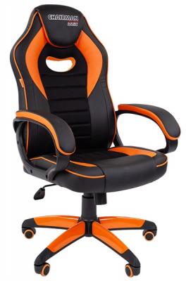 Офисное кресло Chairman game 16 Россия экопремиум черный/ оранжевый (7024555)