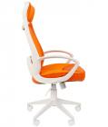 Офисное кресло Chairman 840 Россия белый пластик TW16\TW-66 оранжевый (7025298)