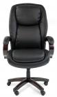 Офисное кресло Chairman 408 Россия кожа+PU черн. (7030084)