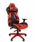 Кресло Офисное кресло Chairman game 25 Россия экопремиум черный/ красный (7054931)
