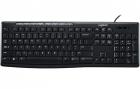 Клавиатура Logitech Keyboard K200, USB, Black [920-008814] (920-008814)