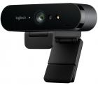 Веб-камера Logitech BRIO (Ultra HD 4K, 2160p/ 30fps, автофокус, zoom 5x, угол обзора 90°/ 78°/ 65°, стереомикрофон) (960-001106)
