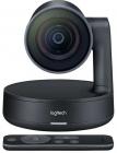 Веб-камера для видеоконференций Logitech Rally (Ultra HD, пульт ДУ, USB 3.0, кабель Type-C (2.2м), блок питания (кабель .... (960-001227)