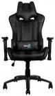 Кресло для геймера Aerocool AC120 AIR-B, черное, с перфорацией, до 150 кг, размер 70х55х124/ 132 см (AC120 AIR-B)