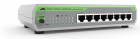 Коммутатор Allied Telesis 8-port 10/ 100TX unmanaged switch with internal PSU, EU Power Cord (AT-FS710/ 8-50)