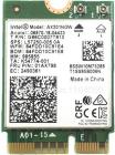 Плата сетевого контроллера Intel Wi-Fi 6 AX201, 2230, 2x2 AX+BT, No vPro, 985855 (AX201.NGWG.NV)