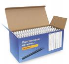 Пластиковые пружины 12 мм белые 100 шт. Пружины пластиковые 12 мм белые (70-91 лист) 100 шт, ГЕЛЕОС [BCA4-12W] (BCA4-12W)