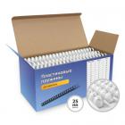Пластиковые пружины 25 мм белые 50 шт. Пружины пластиковые 25 мм белые (200-230 листов) 50 шт, ГЕЛЕОС [BCA4-25W] (BCA4-25W)