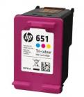 Картридж Cartridge HP 651 струйный трехцветный (300 стр) (C2P11AE)