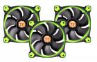 Кулер Thermaltake Case Riing 12 High Static Pressure LED Radiator Fan, Green(3pcs) (CL-F055-PL12GR-A)