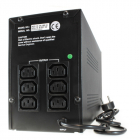 Источник бесперебойного питания UPS CROWN 1000VA / 600W, metal, 2x12V / 7AH, sockets 4 * IEC, transformer AVR 155-295V, .... (CMU-1000XIEC)