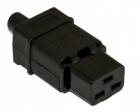 Hyperline CON-IEC320C19 Разъем IEC 60320 C19 220В 16A на кабель, контакты на винтах (плоские контакты внутри разъема), п .... (CON-IEC320C19)