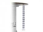 ErgoFount CS-08-GW Вертикальный гибкий кабель-канал. Цвет: серо-белый (CS-08-GW) (CS-08-GW)
