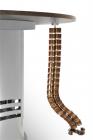 ErgoFount CS-BROWN Вертикальный гибкий кабель-канал. Цвет: темно-коричневый (CS-BROWN) (CS-BROWN)