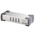 4-портовый KVM-переключатель, 1 user HDB15(SVGA Female)+4хUSB(Тип А(Female))+4хАудио(Female) <-> 2 cpu SPHD15(Female) +2 .... (CS1734AC)