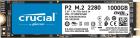 Твердотельный накопитель Crucial P2 SSD 1000GB, M.2 (2280), PCIe Gen 3.0, NVMe, R2400/ W1800, 450 TBW (CT1000P2SSD8)
