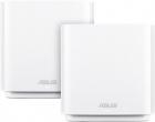 ASUS CT8 (W-2-PK) / / роутер, из 2 точек доступа, 802.11b/ g/ n/ ac/ ax, до 400 + 1733Мбит/ c, 2, 4 + 5 гГц, белый ; 90I .... (CT8 (W-2-PK))