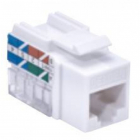 Информационная розетка WireNET UTP Modular Jack KeyConnect CAT5E, white (CU-JU5EW)