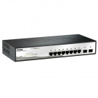 Коммутатор D-Link DGS-1210-10P/ FL1A, L2 Managed Switch with 8 10/ 100/ 1000Base-T ports and 2 1000Base-X SFP ports (8 P .... (DGS-1210-10P/FL1A)