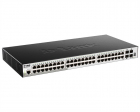 Коммутатор D-Link DGS-1510-52X/ A2A, L2+ Smart Switch with 48 10/ 100/ 1000Base-T ports and 4 10GBase-X SFP+ ports.16K Mac .... (DGS-1510-52X/ A2A)