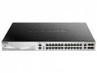 Коммутатор D-Link DGS-3130-30PS/ A1A, L2+ Managed Switch with 24 10/ 100/ 1000Base-T ports and 2 10GBase-T ports and 4 10GB .... (DGS-3130-30PS/ A1A)