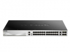 Коммутатор D-Link DGS-3130-30S/ A1A, L2+ Managed Switch with 24 100/ 1000Base-X SFP ports and 2 10GBase-T ports and 4 10GB .... (DGS-3130-30S/ A1A)