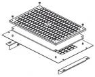 Комплект с фильтром для монтажа вентиляторного модуля DP-VEN-02, 3 в крышу / днище напольных шкафов глубиной 1000мм, чер .... (DP-VER-031F-H)