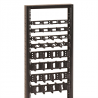 19'' кабельный организатор 2U - односторонний, пластиковые скобы 80 x 80 мм (DP-VP-P7-H)
