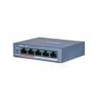 Коммутатор Hikvision DS-3E0105P-E/ M(B) 4 RJ45 100M PoE с грозозащитой 6кВ; 1 Uplink порт 100М Ethernet: бюджет PoE 35Вт .... (DS-3E0105P-E/ M(B))