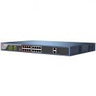 Коммутатор Hikvision DS-3E0318P-E(B) STN экран 128х64; хранилище: 3000 карт, 10000 событий; механическая клавиатура; upl .... (DS-3E0318P-E(B))
