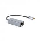 Кабель-переходник USB 3.1 Type-C -->RJ-45 1000Mbps Ethernet, Aluminum Shell, 0.15м VCOM <DU320M> Кабель-переходник USB 3 .... (DU320M)