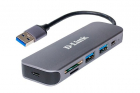 Концентратор usb D-Link DUB-1325/ A1A, 2-port USB 3.0, USB Type-C port, SD and microSD card slots Hub.2 downstream USB t .... (DUB-1325/ A1A)