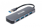 Концентратор usb D-Link DUB-1341/ C1A, 4-port USB 3.0 Hub.4 downstream USB type A (female) ports, 1 upstream USB type A .... (DUB-1341/ C1A)