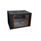 """Шкаф настенный ECOline 19""""12U600x600 дверь стекло, цвет черный Шкаф настенный ECOline 19""""12U600x600 дверь стекло, цвет ч .... (EC12U6060_B_FGF)"""